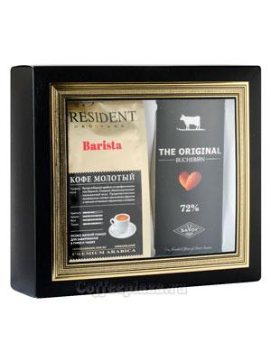 Подарочный набор President Barista молотый и Bucheron The Original горький с миндалем