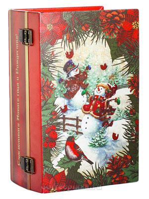 Ти Тэнг Набор в деревянная шкатулка Снеговики (чай+печенье)