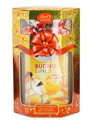 Подарочный кофейный набор Segafredo Buono espresso молотый 250 гр и шоколадные конфеты