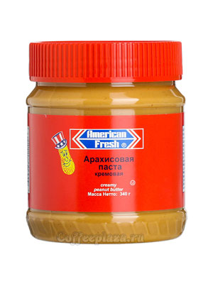Паста American fresh арахисовая, кремовая 340 гр