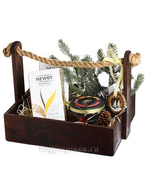 Подарочный набор в деревянном ящичке Newby и варенье
