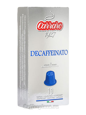 Кофе в капсулах Carraro Decaffeinato