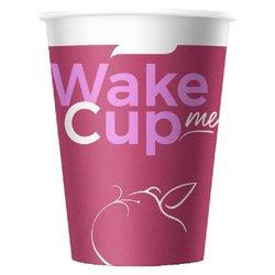 Стакан бумажный 300 мл. WAKE ME CUP