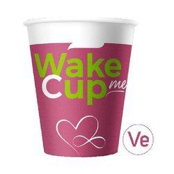 Стакан бумажный ВЕНДИНГ (Евро) 150 мл. WAKE ME CUP