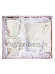 Кофейный набор Lefard Перо на 2 персоны, 4 предмета, 125 мл (127-629)