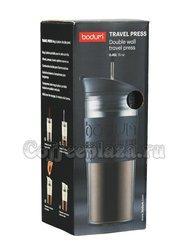 Дорожная термокружка с прессом Bodum Travel черный 450 мл (11100-01)