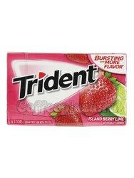 Жевательная резинка Trident Island Berry Lime