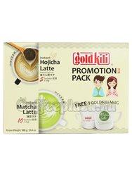 Чай Gold Kili Напиток Латте Матча (10 саше) и Латте Ходжича (5 саше) + чашка