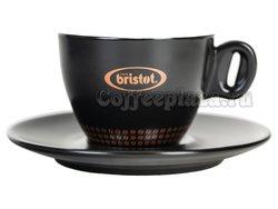 Чашка+Блюдце капучино Bristot Ciao 150 мл (черная)