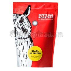 Кофе Owl в зернах Brazil Peaberry Sertao 200 г