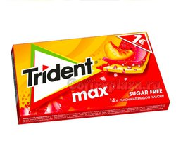 Жевательная резинка Trident MAX персик-арбуз