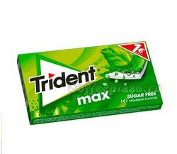 Жевательная резинка Trident MAX мята  (Spearmint)