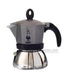 Гейзерная кофеварка Bialetti Moka Induzione antracite 3 порции (120 мл)