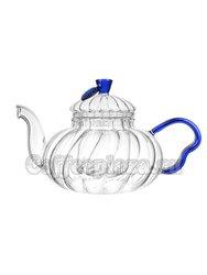 Стеклянный заварочный Чайник Голубой Цветок 800 мл