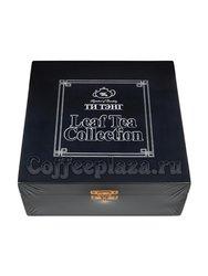 Подарочный набор Ти Тэнг  4 вида чая по 75 г (Металлическая банка в деревянной шкатулке, синяя)
