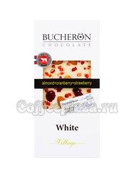 Шоколад Bucheron белый 100 гр ( миндаль, клюква, клубника)