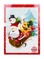 Шоколадный рождественский календарь Chocoland На санках днем, молочный шоколад 50 г