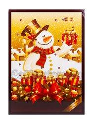 Шоколадный рождественский календарь Chocoland Новогодняя ёлка Мишка, молочный шоколад 50 г 50 гр