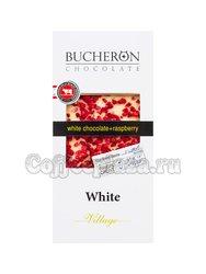 Bucheron Белый шоколад с кусочками малины, 100 г