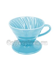Hario Воронка Керамическая для приготовления кофе, 4 порции Голубой (VDC-02-BU-UEX)