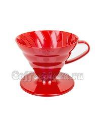 Hario Воронка Керамическая для приготовления кофе, 4 порции Белый (VD-02R)