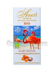 Ameri BIO Молочный шоколад 40% с карамелью и морской солью, плитка 100 г