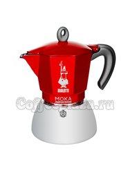 Гейзерная кофеварка Bialetti Moka Induction Красная 150мл 4 порций (6944)