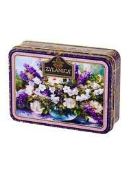 Чай Zylanica Шкатулка с цветами Purple Super Pekoe  черный 100 г  ж/б