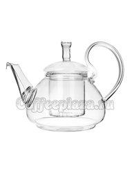 Чайник стеклянный Ромашка с колбой и пружинкой 600 мл