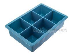 Форма для льда силиконовая 6 ячеек 45*45 мм (02604)