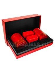 Коробка подарочная в подарочном пакете + 2 банки (красные) + коробки box-006
