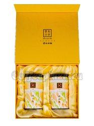 Коробка подарочная в подарочном пакете + 2 банки желтые (box-012)