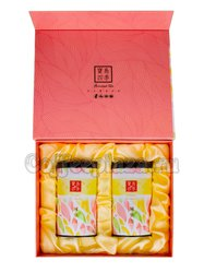 Коробка подарочная в подарочном пакете + 2 банки розовые (box-013)