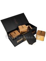 Коробка подарочная в подар. пакете + 3 банки коричневый (box-010)