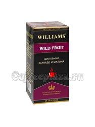 Чай Williams Wild Fruit Фруктовый напиток шиповник, каркаде, малина в пакетиках 25 шт * 2 г