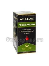 Чай Williams Fresh Mojito зеленый с лимоном и мятой мохито в пакетиках 25 шт * 2 г