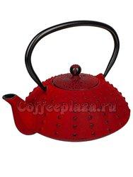 Чайник чугунный красный/черный 800 мл (SLJ-355)