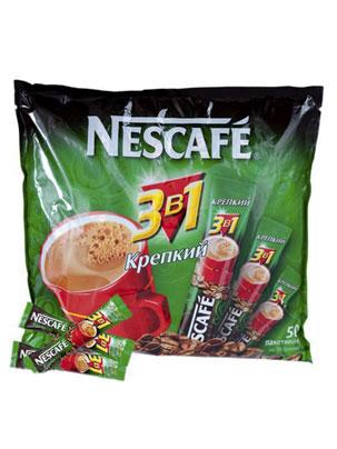 Кофе Nescafe 3 в 1 Крепкий 2014 50 шт по 16 гр