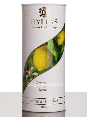 Чай Hyleys Гармония Природы Суприм зеленый с лимоном 100 гр (туба)