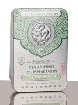 Чай Черный Дракон Прессованный зеленый молочный 60 гр ж/б