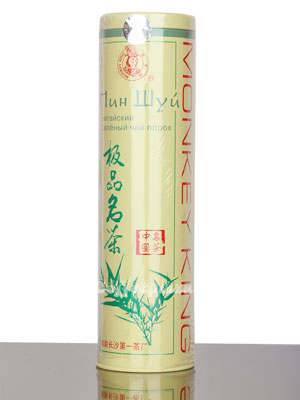 Чай Король обезьян Пин Шуй китайский зеленый чай Порох 120 гр ж/б