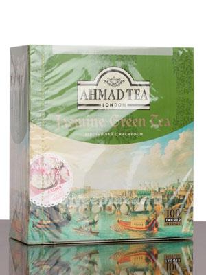Чай Ahmad Tea Jasmine Green Tea. Ахмад Зеленый с жасмином в пакетиках