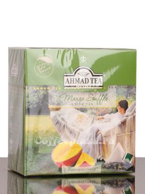 Чай Ahmad Tea в пирамидках Mango Souffle. Ахмад Манговое суфле