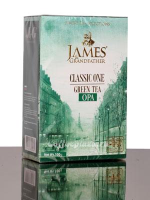 Чай James Grandfather Greentea. Зеленый, 100 гр
