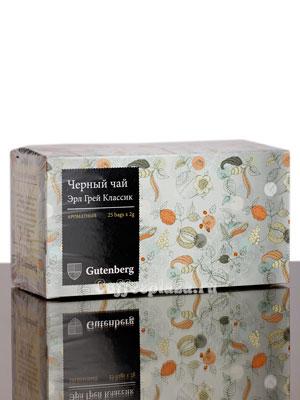 Чай Gutenberg Эрл Грей Классик 25 шт