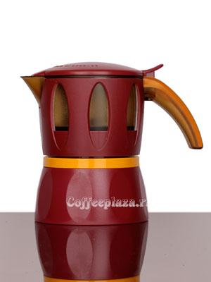 Гейзерные кофеварки Mamy Moka Red 4 пор 160 мл (для микроволновой печи)