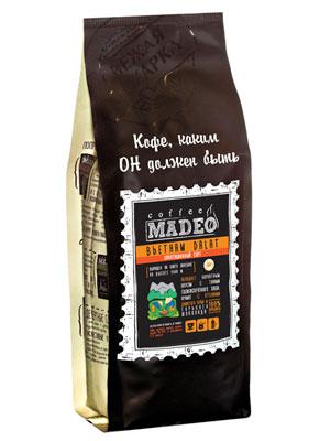 Кофе Madeo в зернах Вьетнам Dalat 500 гр