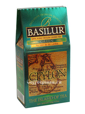 Чай Basilur Остров Цейлон Зеленый 100 гр
