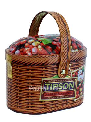 Чай Tipson Basket Cranberries & Lingonberries/Лукошко Клюква и брусника 100 гр