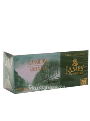 Чай James Grandfather Greentea DCS&T. Зеленый, пакет. 25 шт.